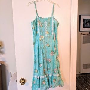 Vintage turquoise prairie dress